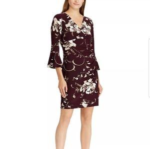 Lauren Ralph Lauren Petite Floral Dress Purple 8P